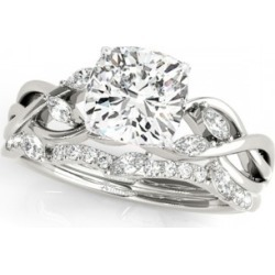 Twisted Cushion Diamonds Bridal Sets 18k White Gold (1.73ct) found on Bargain Bro India from Allurez for $10146.00