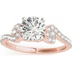 Diamond Single Row Curved Engagement Ring 18k Rose Gold (0.39 ct) found on Bargain Bro Philippines from Allurez for $1627.00