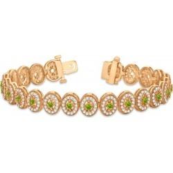 Peridot Halo Vintage Bracelet 18k Rose Gold (6.00ct) found on Bargain Bro India from Allurez for $10530.00