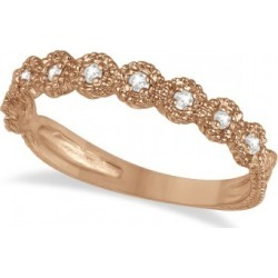 Diamond Stackable Ring Band in 14k Rose Gold (0.20 ctw) found on Bargain Bro India from Allurez for $551.00