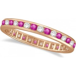 Pink Sapphire & Diamond Channel Set Eternity Band 14k R. Gold (1.04ct) found on Bargain Bro India from Allurez for $961.00