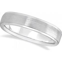 Men's Ridged Wedding Ring Band Satin Finish Palladium (5mm) found on MODAPINS from Allurez for USD $840.00