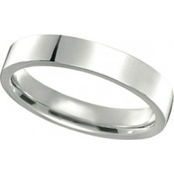 950 Platinum Plain Wedding Band Flat Comfort-Fit Ring (4 mm) found on Bargain Bro from Allurez for USD $1,342.16