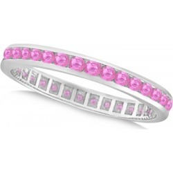Pink Sapphire Channel Set Eternity Band 14k W. Gold (1.04ct) found on Bargain Bro India from Allurez for $853.00
