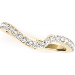 Diamond Swirl Contoured Wedding Band 14k Yellow Gold (0.29ct) found on Bargain Bro Philippines from Allurez for $1048.00