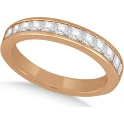Channel Set Princess Diamond Wedding Band 18k Rose Gold (0.60ct) found on Bargain Bro from Allurez for USD $1,706.20