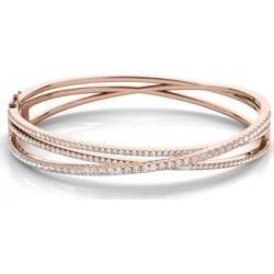 Diamond Multi-Row Bangle Bracelet 14k Rose Gold (2.27ct)