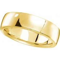 Men's Wedding Ring Low Dome Comfort-Fit in 18k Yellow Gold (6mm) found on MODAPINS from Allurez for USD $990.00