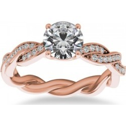 Diamond Infinity Twisted Engagement Ring 14k Rose Gold (0.22ct) found on Bargain Bro India from Allurez for $1176.00