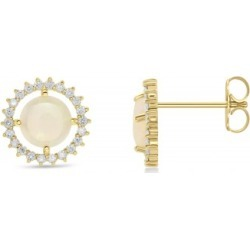 Diamond Opal Sun Style Earrings 14k Yellow Gold (1.36ct) found on Bargain Bro Philippines from Allurez for $869.00