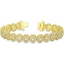 Diamond Halo Vintage Bracelet 18k Yellow Gold (5.01ct)