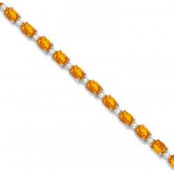 Citrine & Diamond Tennis Link Bracelet 14k White Gold (12.00ct) found on Bargain Bro India from Allurez for $2862.00