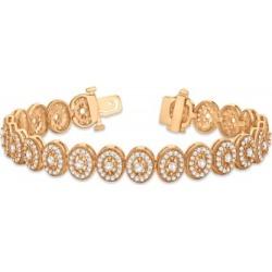 Diamond Halo Vintage Bracelet 18k Rose Gold (5.01ct)