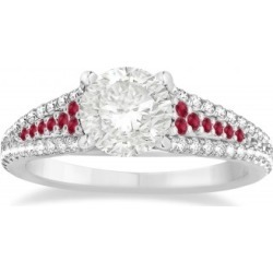Ruby & Diamond Engagement Ring 18k White Gold (0.33ct) found on Bargain Bro India from Allurez for $2018.00
