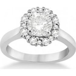 Diamond Halo Engagement Ring 14K White Gold Prong Setting (0.32ct) found on Bargain Bro India from Allurez for $955.00