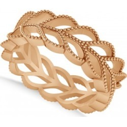 Leaf Wedding Ring Band 14k Rose Gold found on MODAPINS from Allurez for USD $546.00
