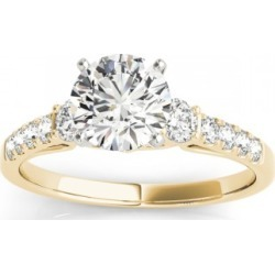 Diamond Three Stone Engagement Ring 18k Yellow Gold (0.43ct) found on Bargain Bro India from Allurez for $2191.00