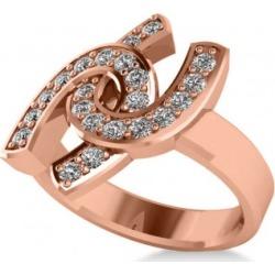 Diamond Double Horseshoe Men's Ring 14k Rose Gold (0.66ct) found on MODAPINS from Allurez for USD $2250.00
