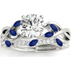 Marquise Blue Sapphire & Diamond Bridal Set Setting Palladium (0.43ct) found on Bargain Bro India from Allurez for $3929.00