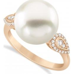 South Sea Pearl & Diamond Ring 14k Rose Gold (12.00mm)