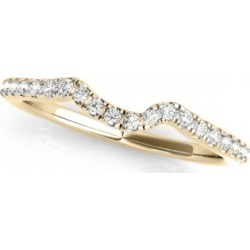 Women's Wedding Ring, Contoured Diamond Band 18k Yellow Gold 0.12ct found on MODAPINS from Allurez for USD $755.00