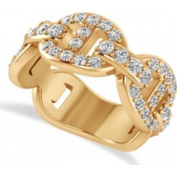 Diamond Accented Ladies Diamond Link Ring in 14k Rose Gold (1.20 ctw) found on Bargain Bro Philippines from Allurez for $2552.00
