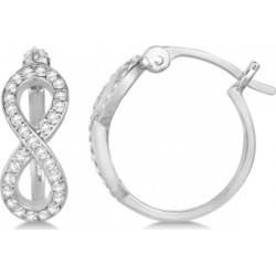 Diamond Infinity Style Hinged Hoop Earrings 14k White Gold 0.33ct found on Bargain Bro India from Allurez for $853.00