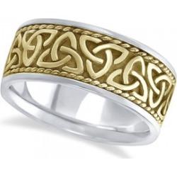 Mens Handmade Celtic Irish Wedding Band 18k Two-Tone Gold (10mm) found on Bargain Bro from Allurez for USD $2,161.44
