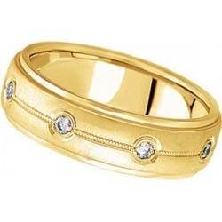 Diamond Wedding Ring in 18k Yellow Gold for Men (0.40 ctw) found on Bargain Bro Philippines from Allurez for $1900.00