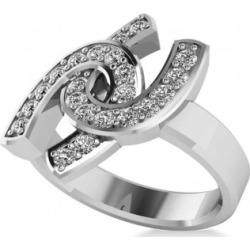 Diamond Double Horseshoe Men's Ring 14k White Gold (0.66ct) found on MODAPINS from Allurez for USD $2250.00