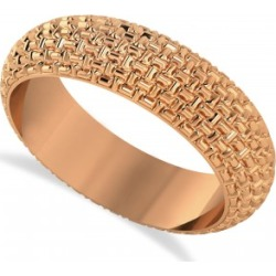 Laced Textured Men's Wedding Ring Band 14k Rose Gold found on MODAPINS from Allurez for USD $630.00
