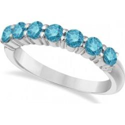 Seven-Stone Fancy Blue Diamond Ring Band 14k White Gold (1.00ct) found on Bargain Bro from Allurez for USD $1,512.40