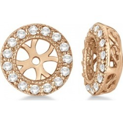 Vintage Round Cut Diamond Earring Jackets 14k Rose Gold (0.27ct) found on Bargain Bro from Allurez for USD $527.44