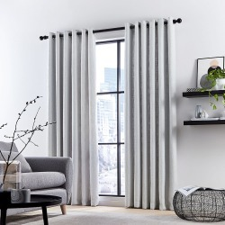 DKNY - Madison Lined Curtains - Silver - 167x228cm found on Bargain Bro UK from Amara UK