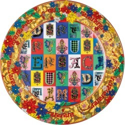 Versace Home - Christmas Alphabet Charger Plate found on Bargain Bro UK from Amara UK