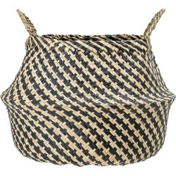 Bloomingville - Panier Rond en Herbe Marine avec Anses - Naturel/Noir found on Bargain Bro India from Amara FR for $55.90