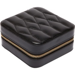 Wolf - Caroline Zip Travel Jewellery Case - Black found on Makeup Collection from Amara UK for GBP 87.54