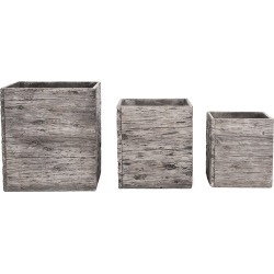 Garden Trading - Westonbirt Square Planters - Set of 3 found on Bargain Bro UK from Amara UK