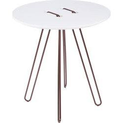 Horm & Casamania - Twine Table - White & Bronze