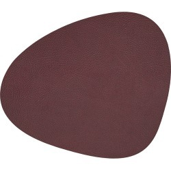 LIND DNA - Hippo Curve Table Mat - Plum - Small