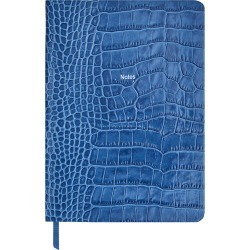 Organise-Us - 'Notes' Medium Leather Notebook - Denim Blue found on Bargain Bro UK from Amara UK