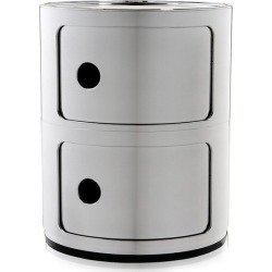Kartell - Componibili Aufbewahrungseinheit - Chrom - Small found on Bargain Bro India from Amara DE for $241.80