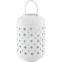 Marinette Saint Tropez - Iron Lantern - White - Large found on Bargain Bro UK from Amara UK