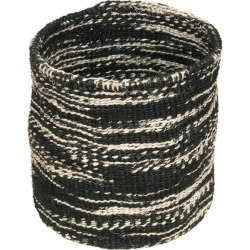 The Basket Room - Cloud Mkaa Hand Woven Basket - Black - L