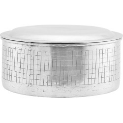 House Doctor - Metal Check Stripe Storage Jar with Lid - Large found on Bargain Bro UK from Amara UK