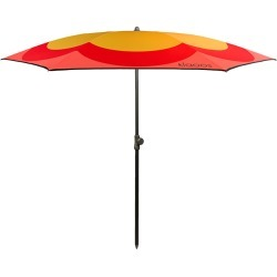 Klaoos - The Pop Grass Beach Umbrella - Mustard/Red