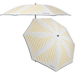 Klaoos - The Captivating Beach Umbrella - White/Yellow found on Bargain Bro UK from Amara UK