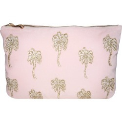 Elizabeth Scarlett - Palmier Velvet Travel Pouch - Rosewater found on Makeup Collection from Amara UK for GBP 29.11