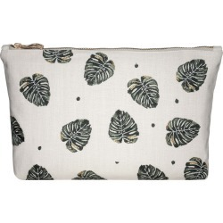 Elizabeth Scarlett - Jungle Leaf Travel Pouch - Natural found on Makeup Collection from Amara UK for GBP 27.07