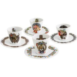 Christian Lacroix - Love Who You Want Coffee Cups & Saucers - Set of 4 found on Bargain Bro UK from Amara UK